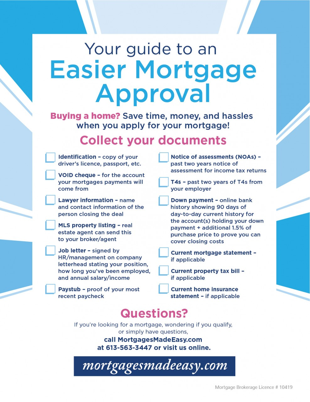 Your Guide To An Easier Mortgage Approval Ottawa Carleton Mortgage Inc Blog Mortgage Advice Tips