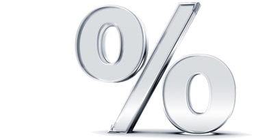 Mortgage rate percentage sign